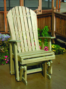 LuxCraft Amish Made Wood Outdoor Glider