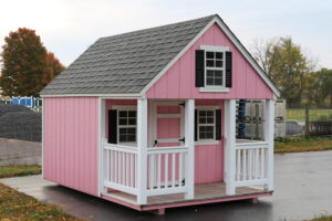 Amish Storage Shed as playhouse
